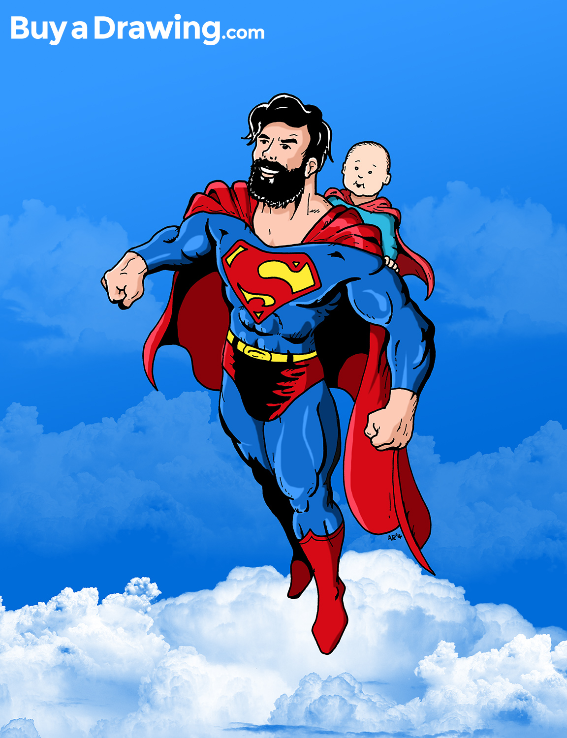 1152x1500 Superman Dad And Baby