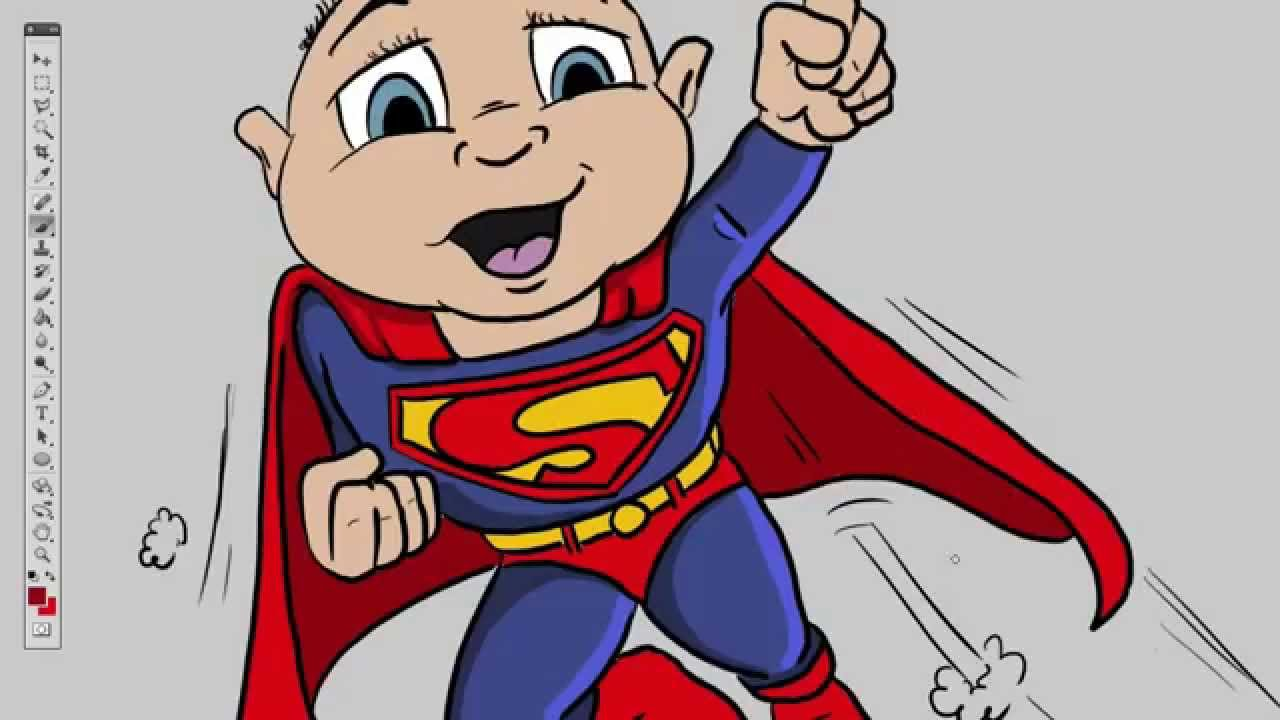 1280x720 The Superbaby Quick Cartoon Drawing