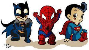 300x169 Baby Superman Drawings Baby Batman, Spiderman Amp Superman