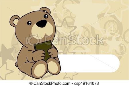 450x300 Cute Baby Teddy Bear Book Background. Cute Baby Tiger Book