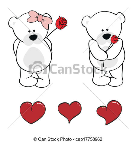 450x470 Polar Bear Baby Cute Cartoon Set In Vector Format Clip Art Vector