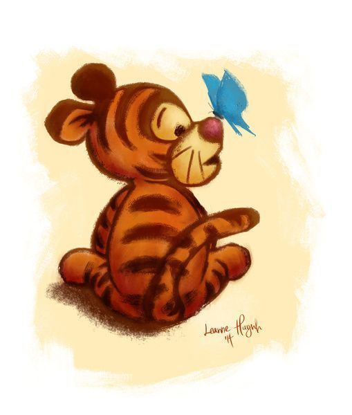 509x600 Baby Tigger Art Print By Leanne Huynh Society6 Animal Drawings