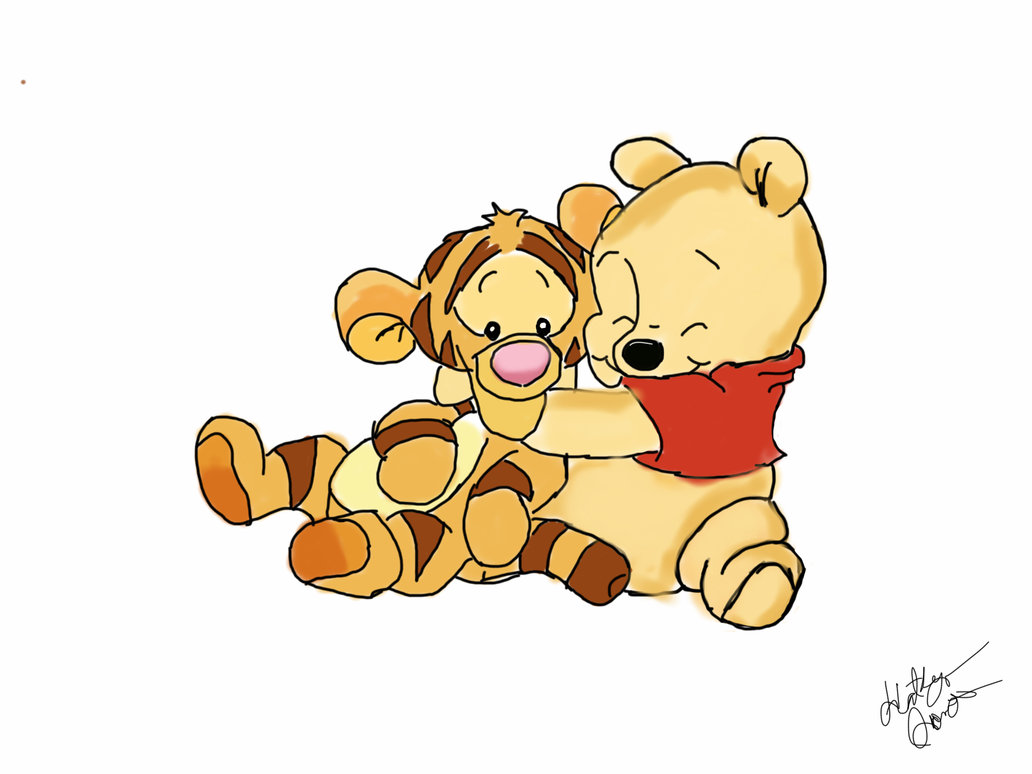 1032x774 Baby Pooh And Tigger By Disneylover23