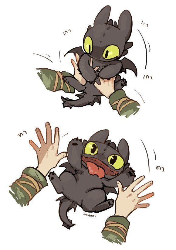 580x823 Baby Toothless! Disney And Other Animation Art