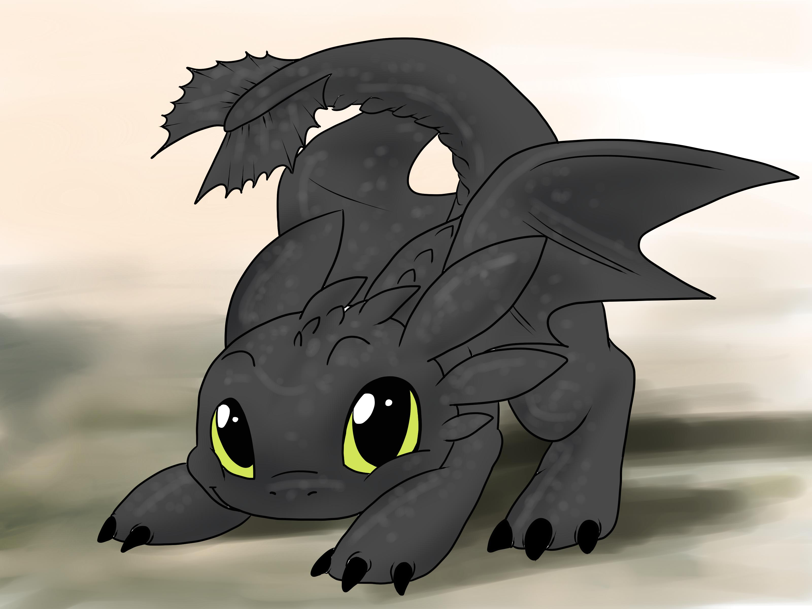 3200x2400 How To Draw Toothless (With Pictures)