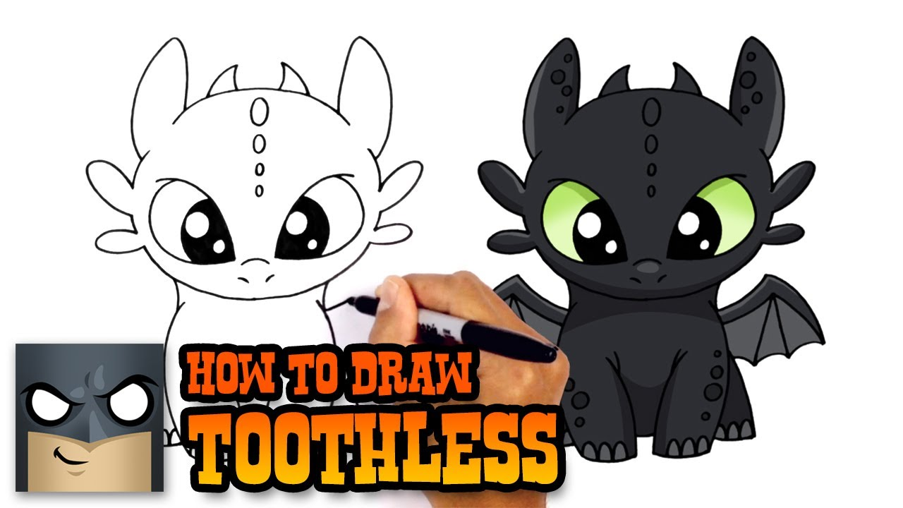 1280x720 How To Draw Toothless How To Train Your Dragon
