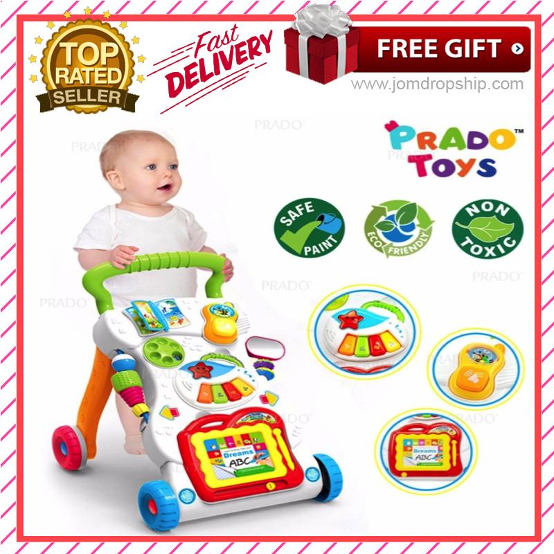 800x800 4 In 1 Children Music Walker Baby Learn Walk Stand Trolley Toys
