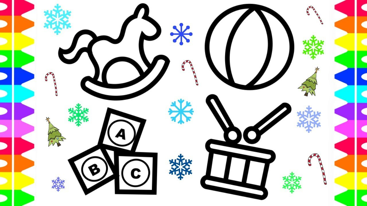 1280x720 Christmas Holiday Coloring Pages For Kids Baby Christmas Toys