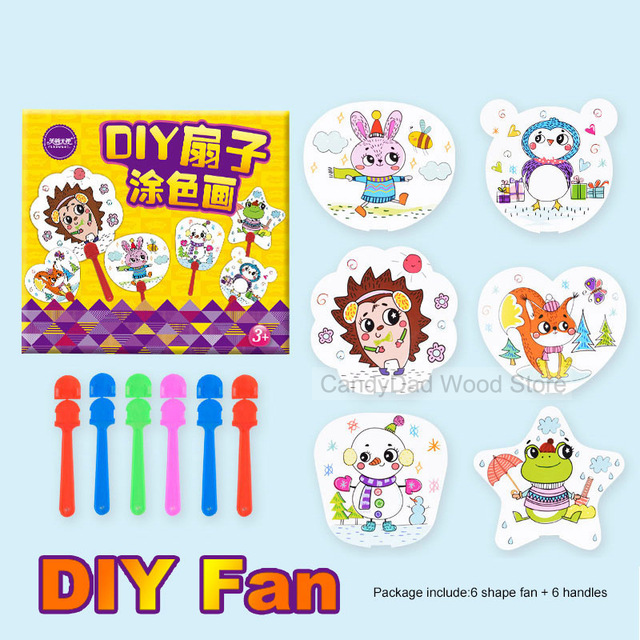 640x640 Diy Fan Toys Drawing Painting Toys For Children Baby Diy Material