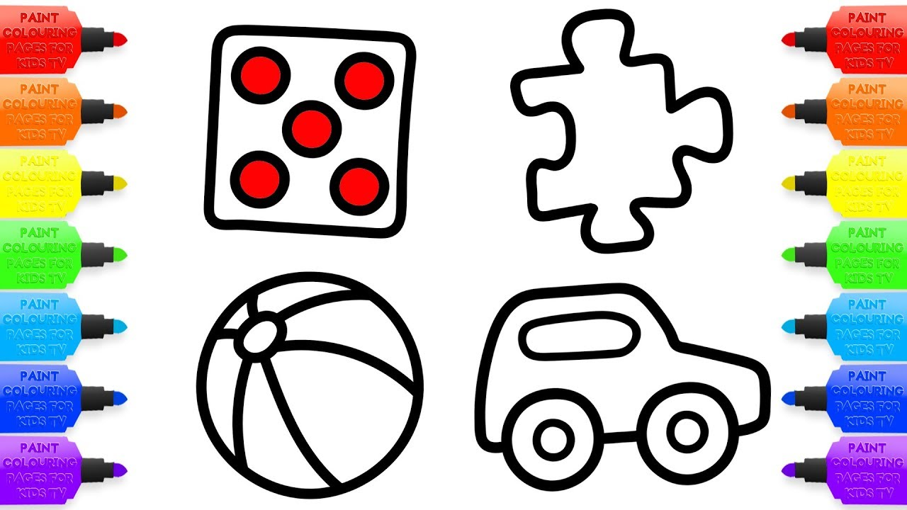 1280x720 How To Draw Toys For Baby Coloring Pages And Drawing For Kids