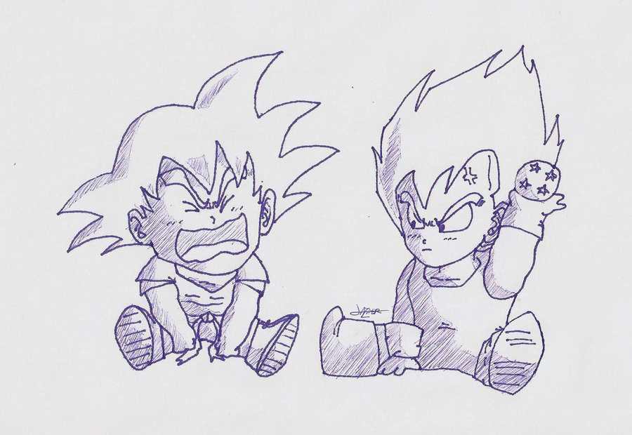 Baby Vegeta Drawing at GetDrawings.com | Free for personal use Baby ...