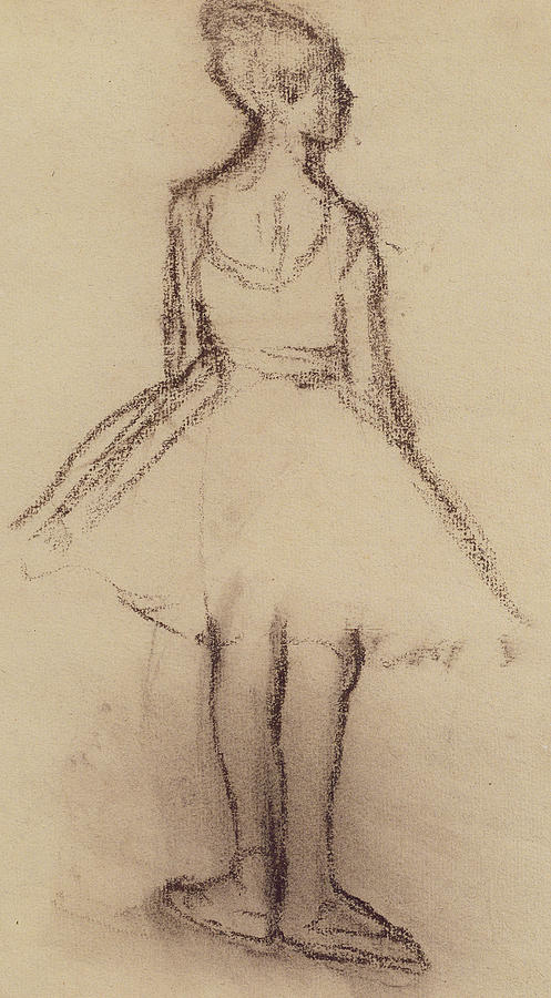 497x900 Viewed From The Back Drawing By Edgar Degas