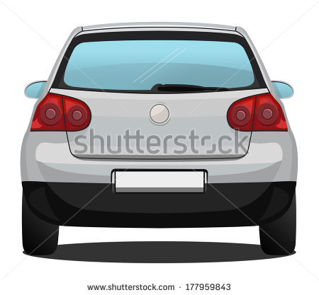 450x417 Back Of A Car Clipart Car Back Drawing Csp10194998
