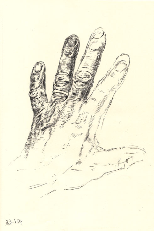 490x735 Drawing Of Back Of My Left Hand