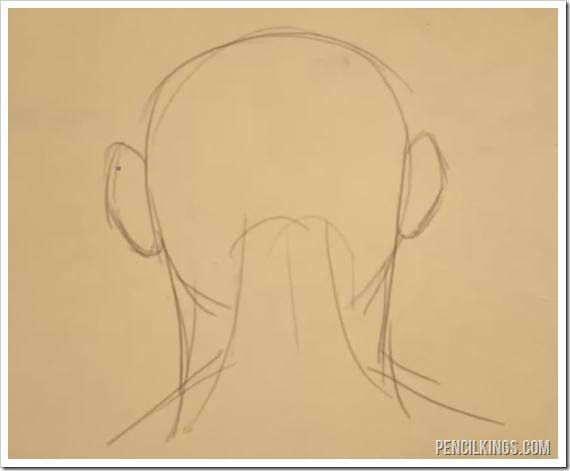 570x471 Learn How To Draw An Ear From The Back
