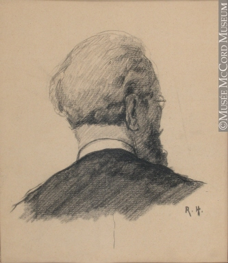 333x385 M2004.55.4 Back Of Man's Head Drawing