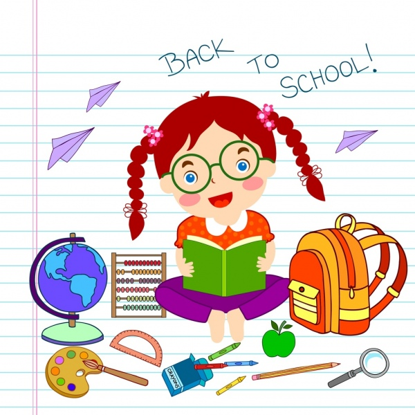 600x600 Back To School Background Hand Drawing Education Icons Free Vector