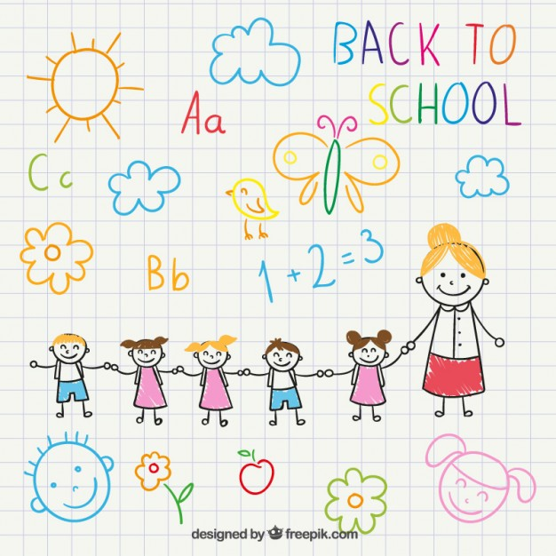 626x626 Back To School Drawing Vector Free Download