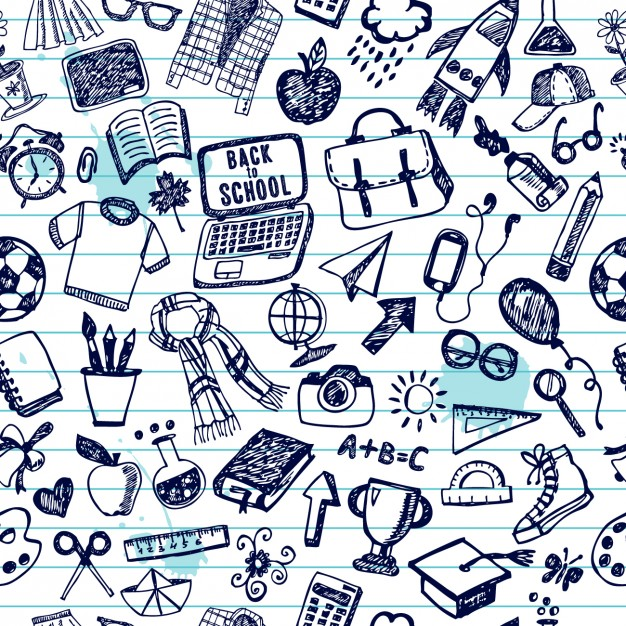 626x626 Hand Drawn Back To School Pattern Vector Free Download