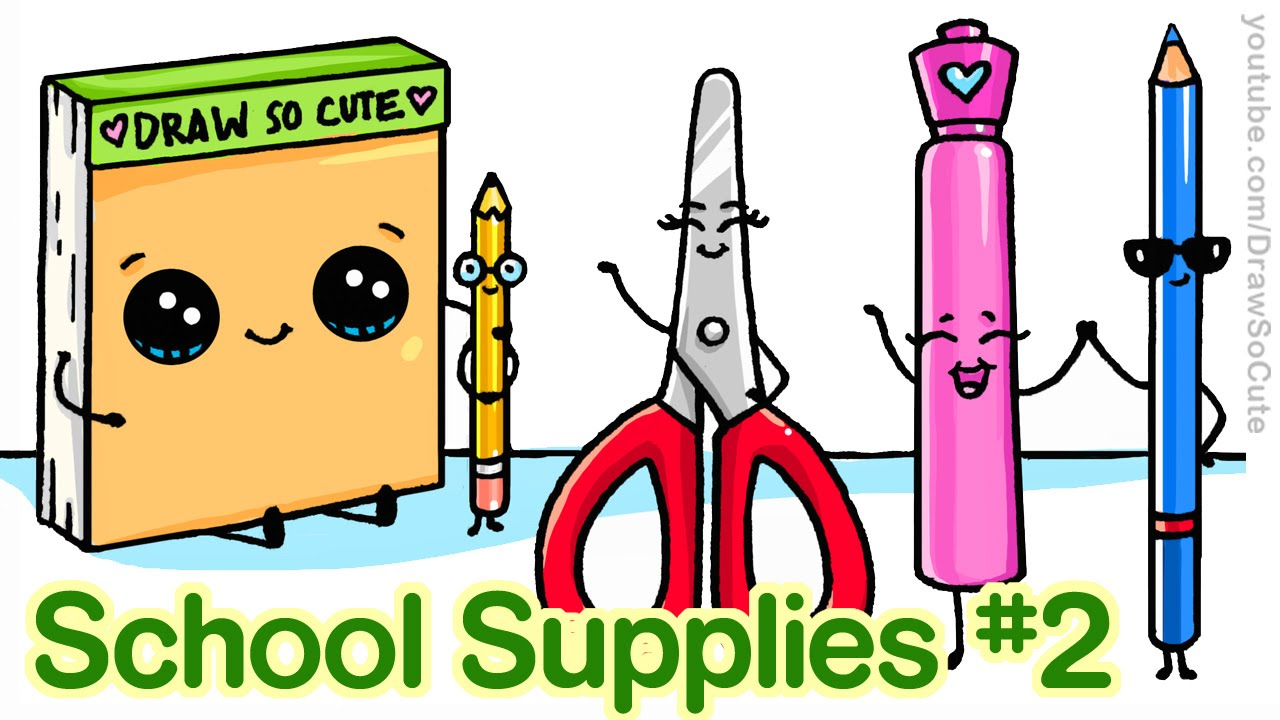 1280x720 How To Draw Back To School Supplies