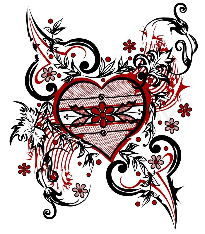 700x800 Abstract Drawing Heart Valentine Background The Valentine's Day T