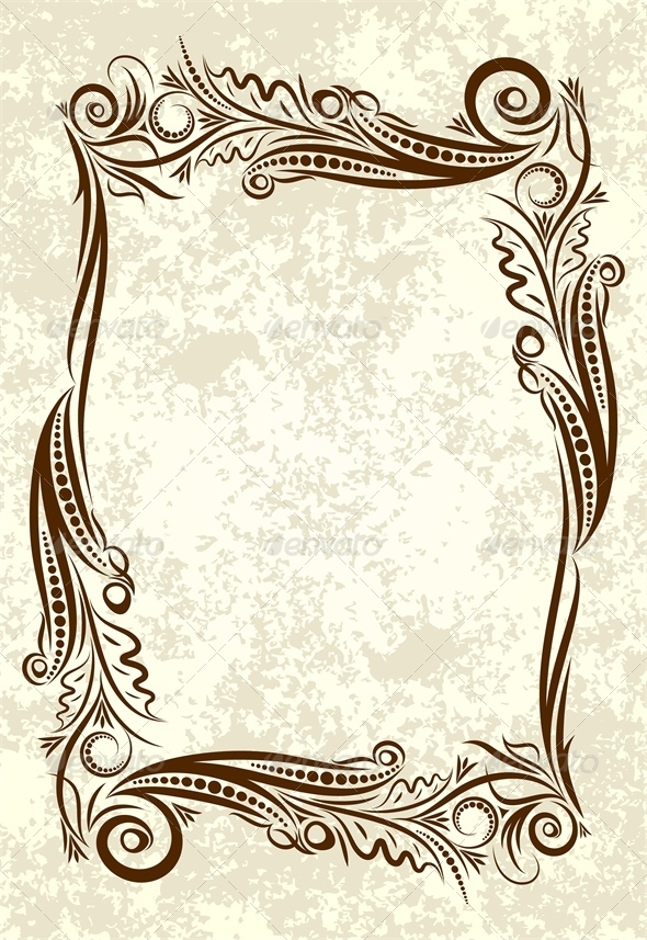 590x857 Decorative Background Adornment, Background, Baroque, Border