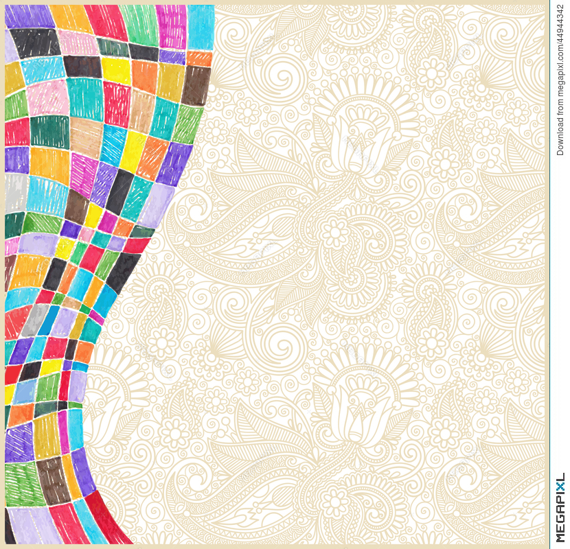 830x800 Doodle Marker Drawing Abstract Background Design Illustration