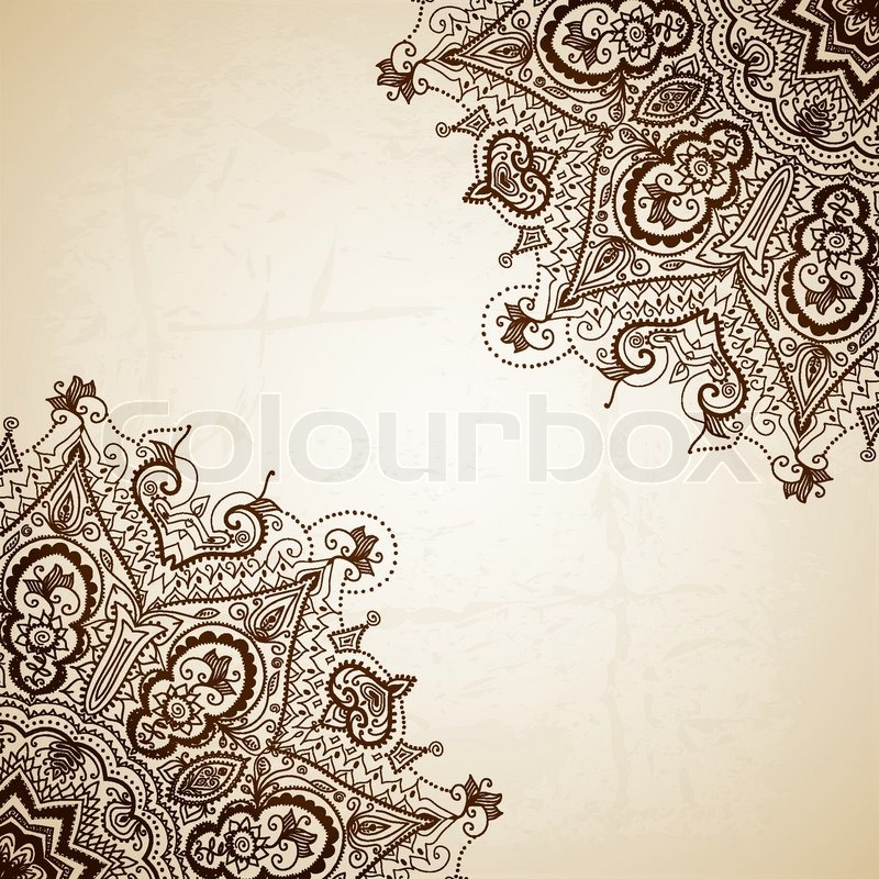 800x800 Vintage Vector Pattern. Hand Drawn Abstract Background. Decorative