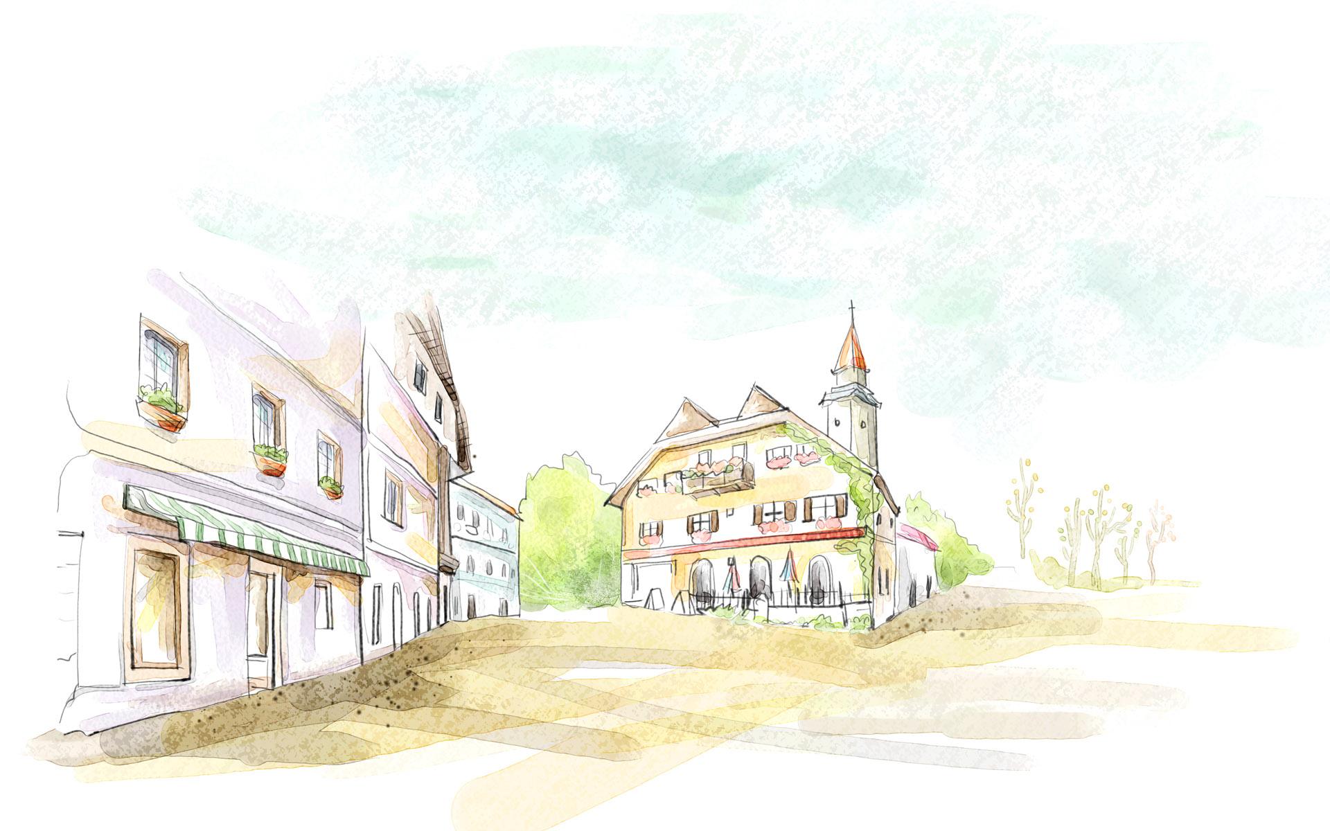 1920x1200 Cartoon Landscape Illustration 18077