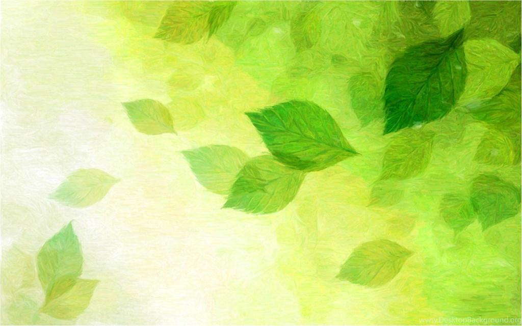 1024x640 Cool Green Background Drawing Of Green Spring Leaves.jpg Desktop