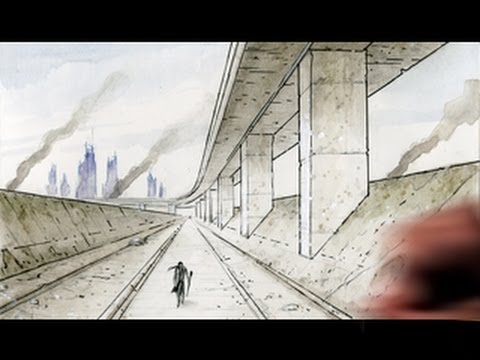 480x360 How To Draw Backgrounds (1 Point Perspective)