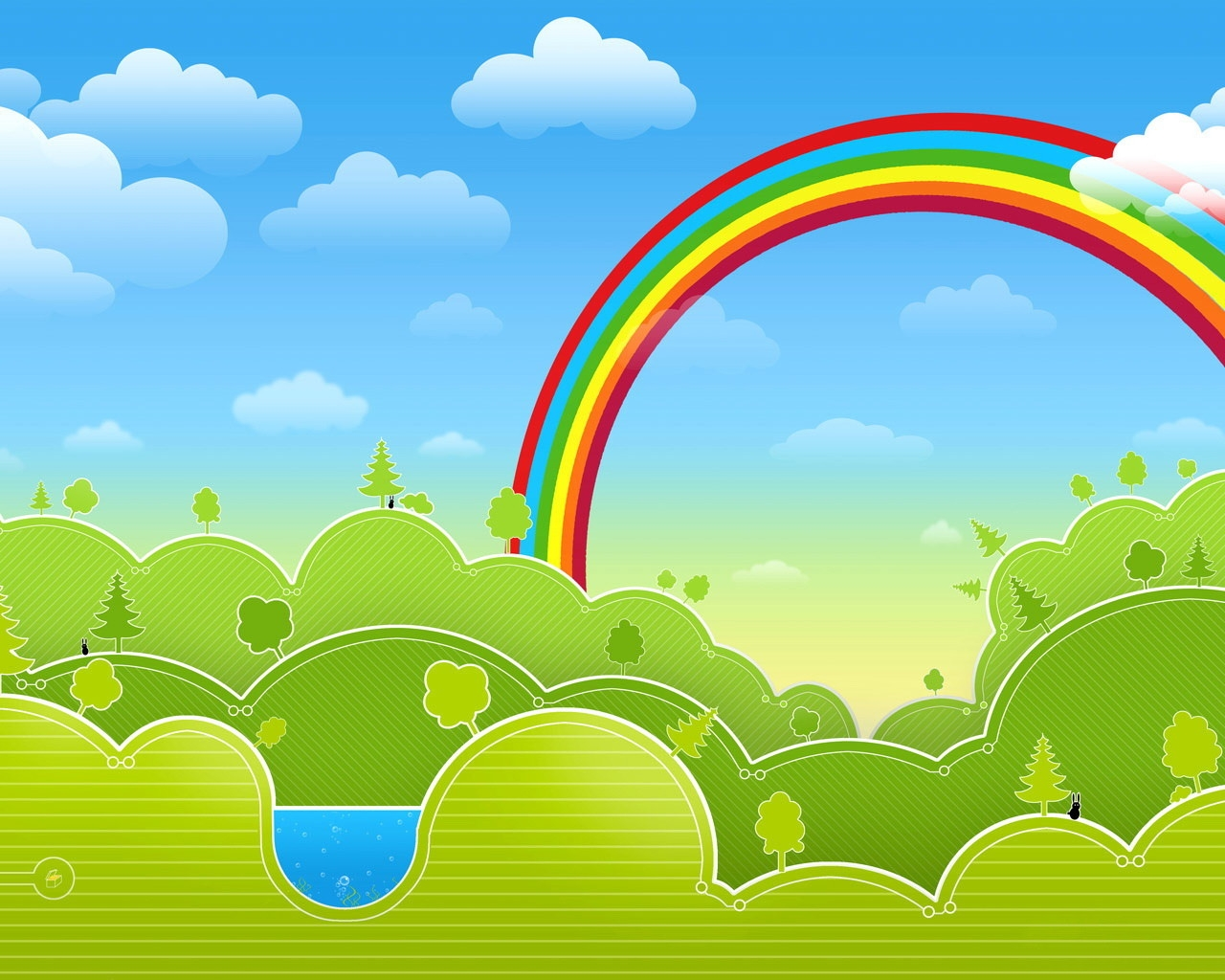 1280x1024 Download Wallpaper 1280x1024 Drawing, Rainbow, Multicolored