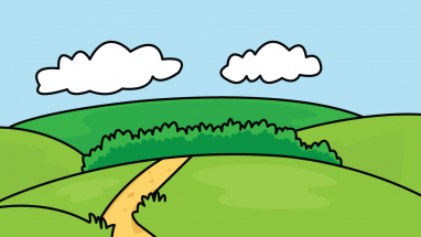 382x215 How To Draw Backgrounds, Nature, A River, A Clouds, A Grass, Easy
