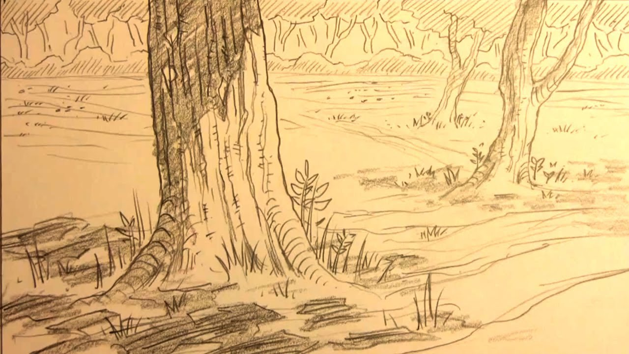 1280x720 How To Draw Forest Backgrounds For Manga