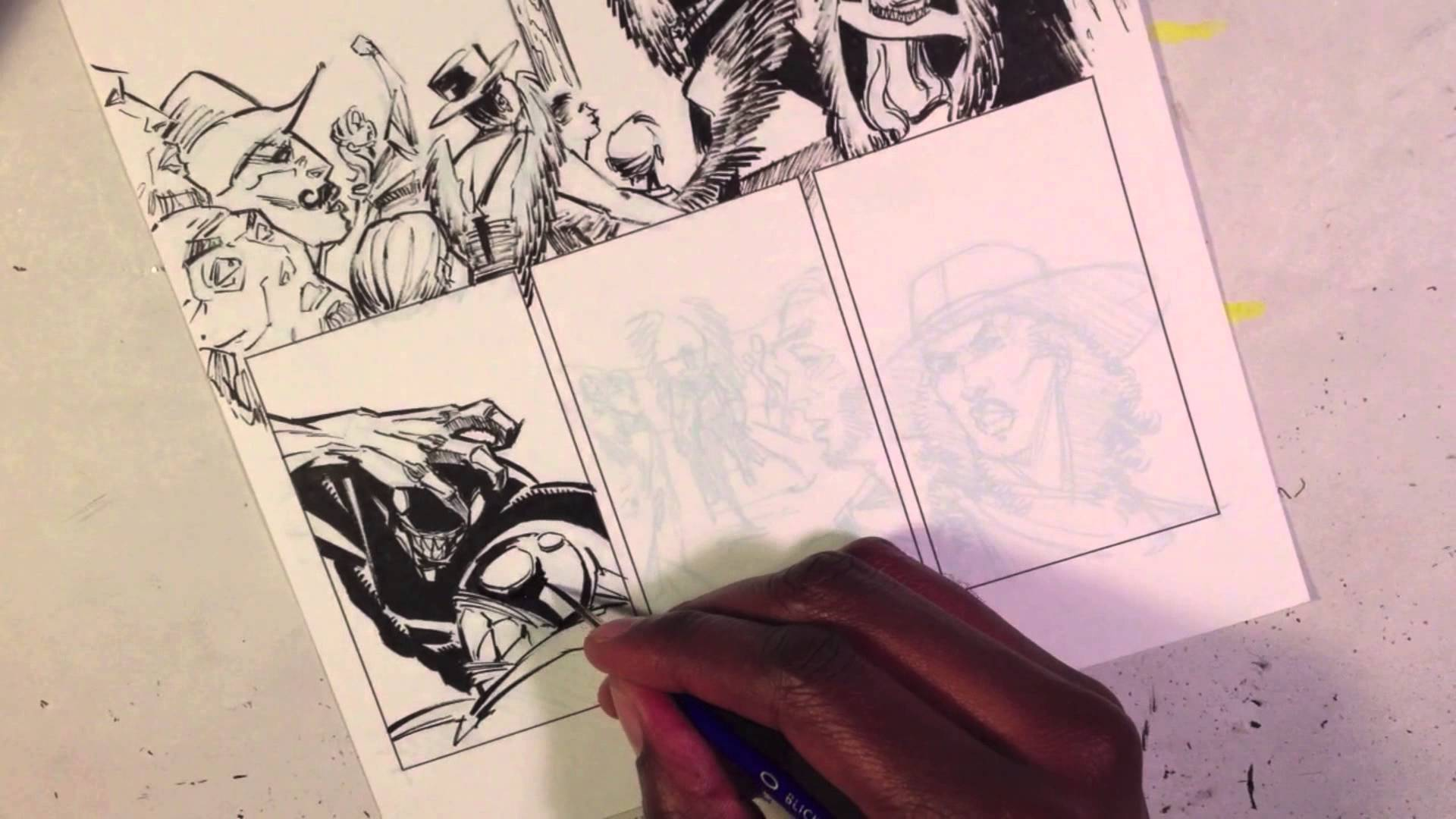 1920x1080 Gerimi Drawing Comics 023 Populate Your Background With Figures