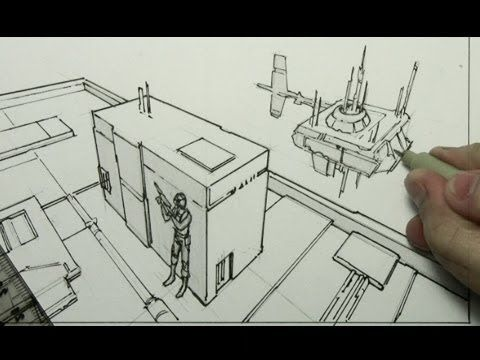 480x360 How To Draw Backgrounds (3 Point Perspective) Credit Mark Crilley