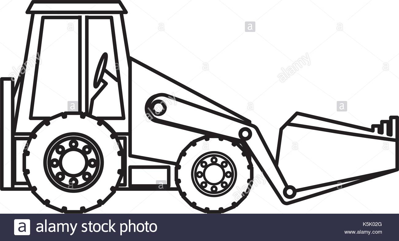 1300x785 Backhoe Stock Vector Images