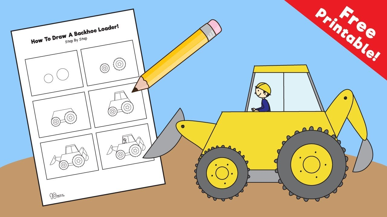 1280x720 How To Draw A Backhoe Loader