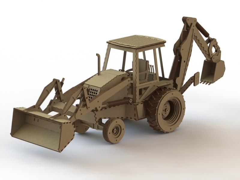 800x600 Loader Backhoe 3d Cad Model Library Grabcad