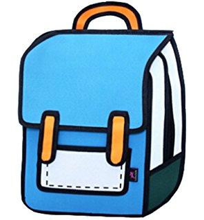 296x320 Cute Rose 3d Drawing Cartoon Bag Comic Bag Backpack Amazon.ca