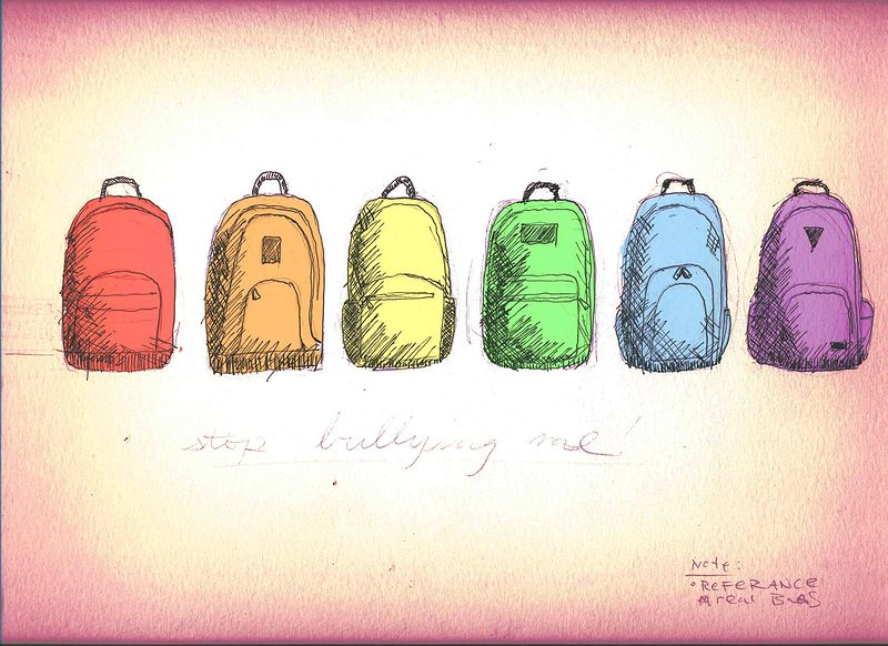 800x582 Rainbow Backpacks Drawing