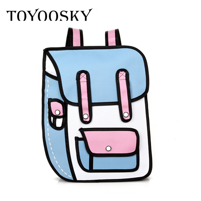 640x640 Toyoosky Brand Cartoon Paper Bag New 3d Jump Style 2d Drawing