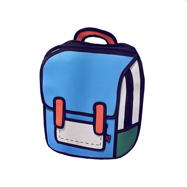 640x640 Women Cartoon Backpack Men Backpack School Bag Style Canvas 2d