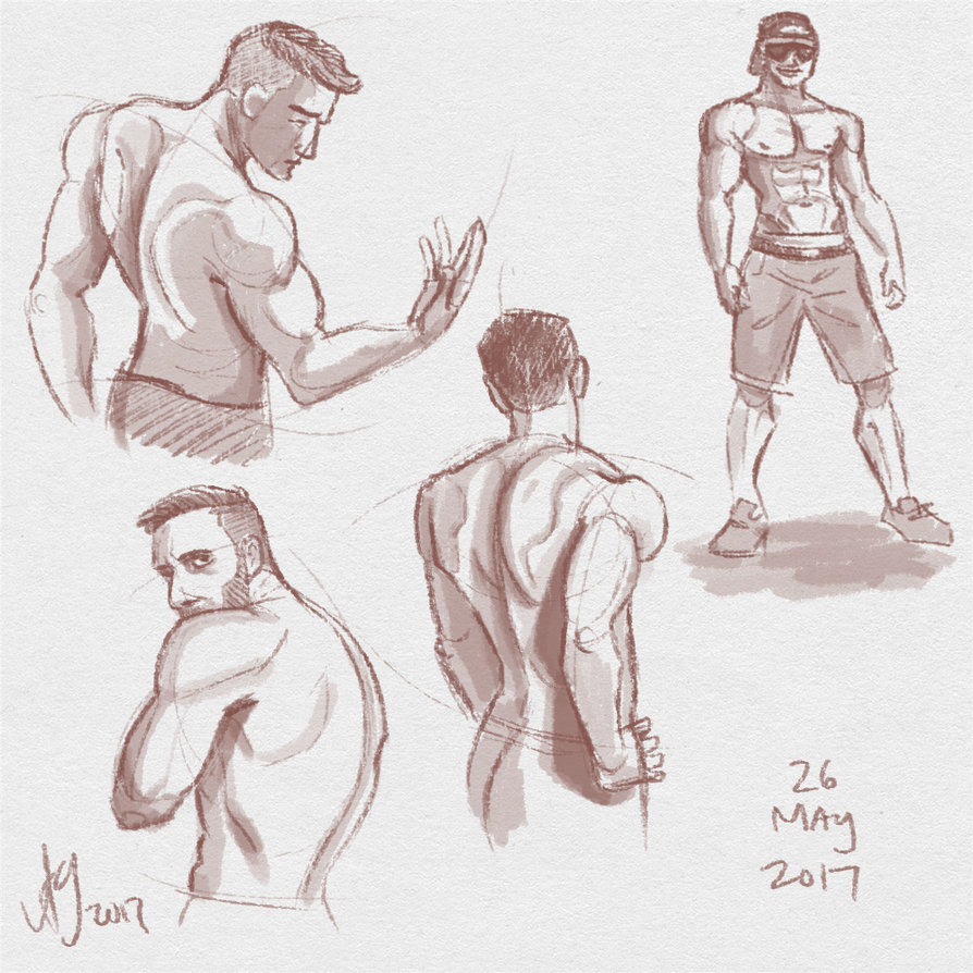 894x894 Fresh Figure Drawings 26 May 2017 Backs By Kuabci