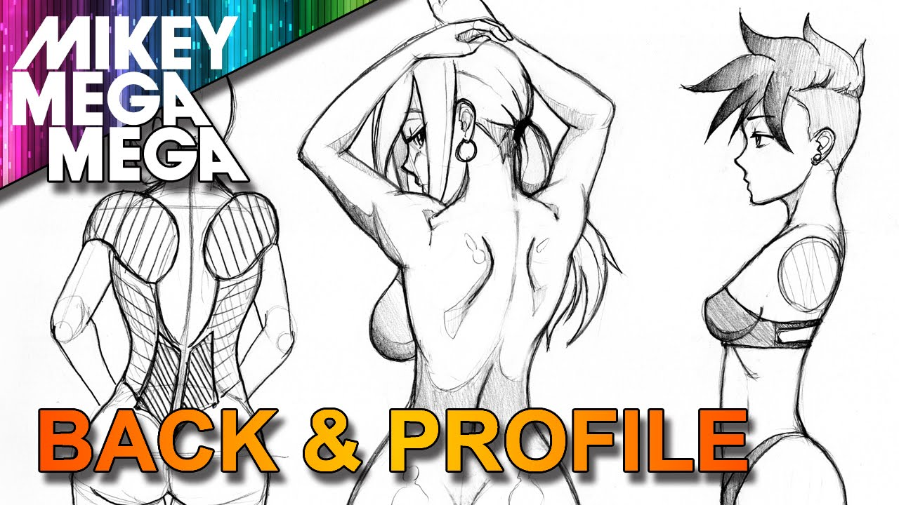 1280x720 How To Draw Back Amp Profile Side View For Girls In Anime Manga