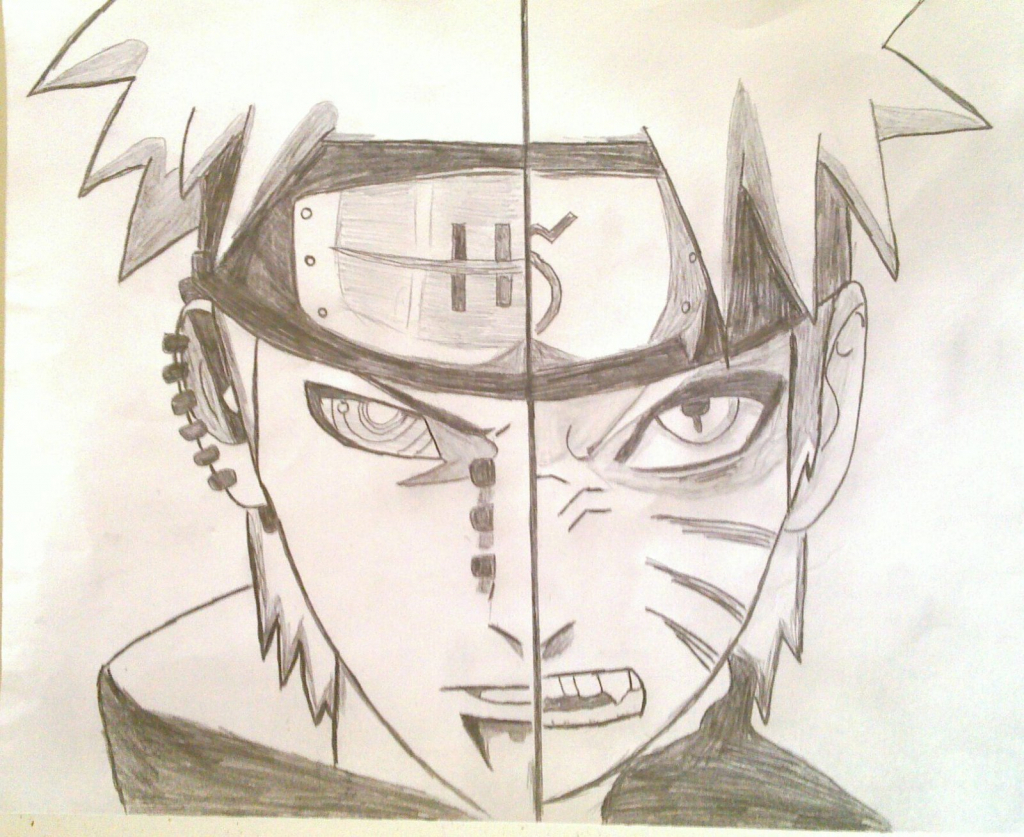 1024x837 Naruto Anime Drawing Naruto Anime Drawing Pain Vs Naruto Atisorn
