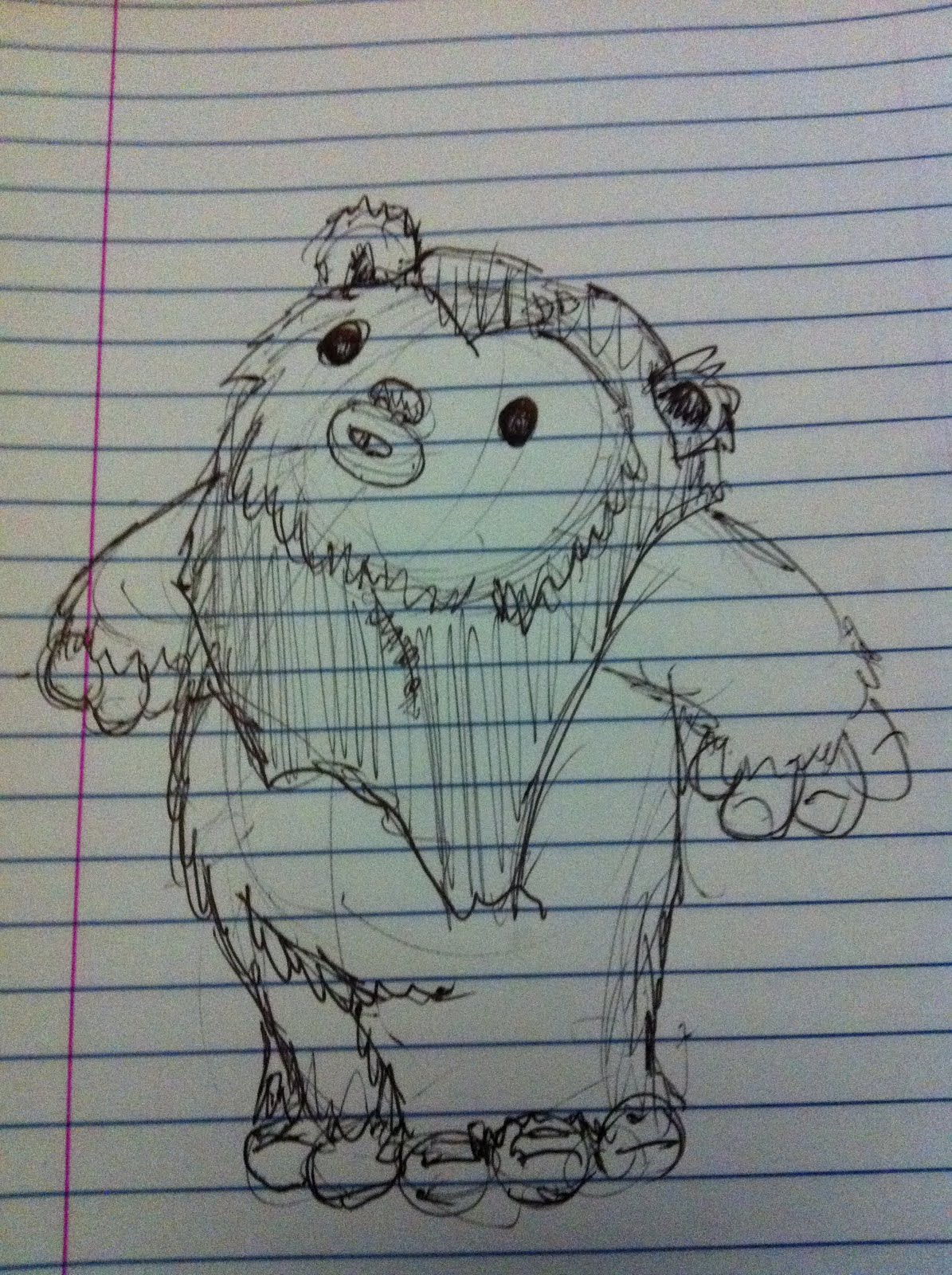 1195x1600 A Million Bad Drawings Another Ewok Bad Drawing