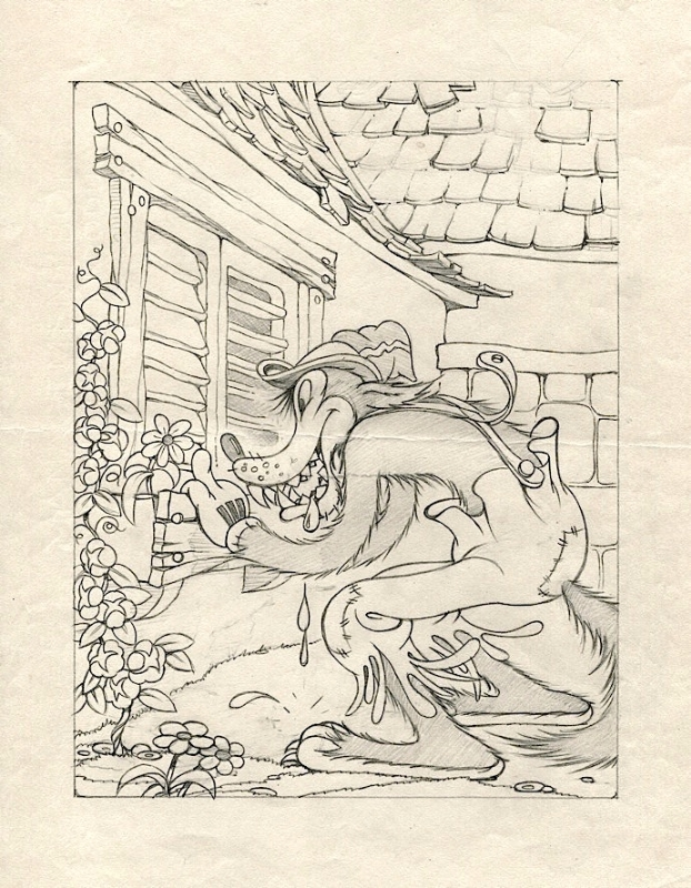 622x800 Publicity Drawing For The Big Bad Wolf, 1934, In C E's Disney