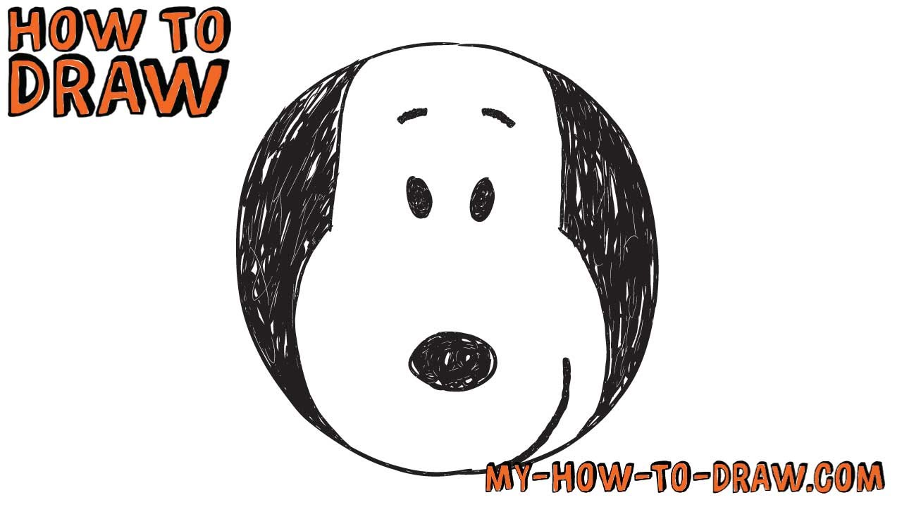 1280x720 How To Draw Snoopy Super Easy Badge Drawing