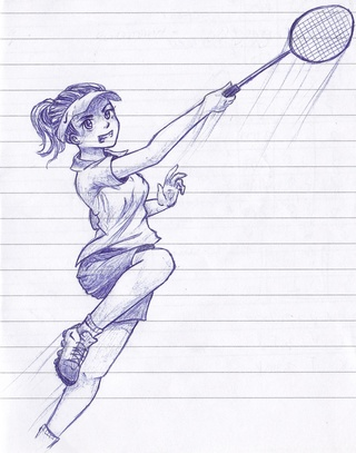 320x407 Badminton Drawings On Paigeeworld. Pictures Of Badminton